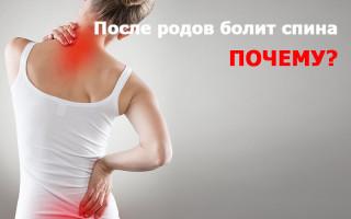 Почему после родов начинает болеть спина в области лопаток?