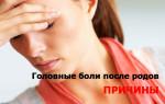 Головная боль после родов: причины, лечение