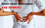 Болит спина после родов: причины, лечение, важные особенности