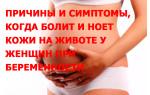 Причины и симптомы, когда болит и ноет кожи на животе у женщин при беременности