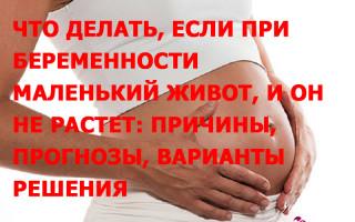 Маленький живот при беременности
