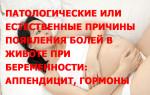 Патологические или естественные причины появления болей в животе при беременности: аппендицит, гормоны
