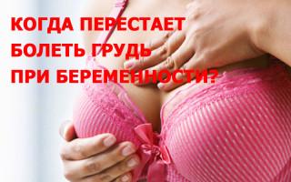 Когда перестает болеть грудь при беременности – это опасно?