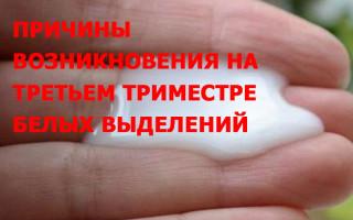 Белые выделения при беременности в третьем триместре без запаха