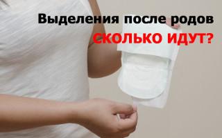 Выделения крови после родов