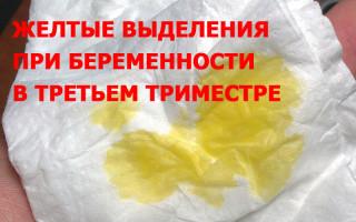 Как определить и отличить нормальные желтые выделения в третьем триместре от патологии?
