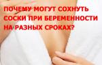 Почему могут сохнуть соски при беременности на разных сроках?